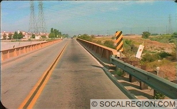 Original bridge over the South Fork Santa Clara River. It was built in 1916 and is a thru-girder type. It was replaced with a four lane bridge in 1995. Photo Courtesy - Caltrans