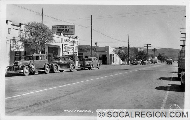 1938 view of Sierra Highway near Palmdale Blvd.