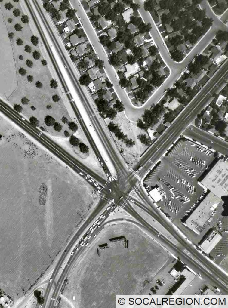 Original junction at Holt Blvd. US 60 (later SR-71), continued south (bottom).