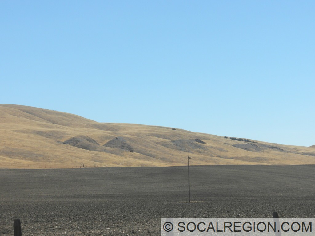 Scarps and offset streams visible on the Carrizo Plain Road south of the Carrizo Plain.