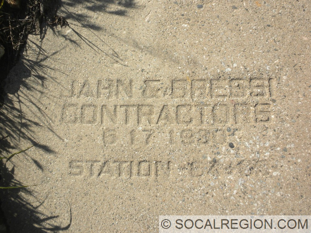 Contractor's Stamp on the concrete shown above.