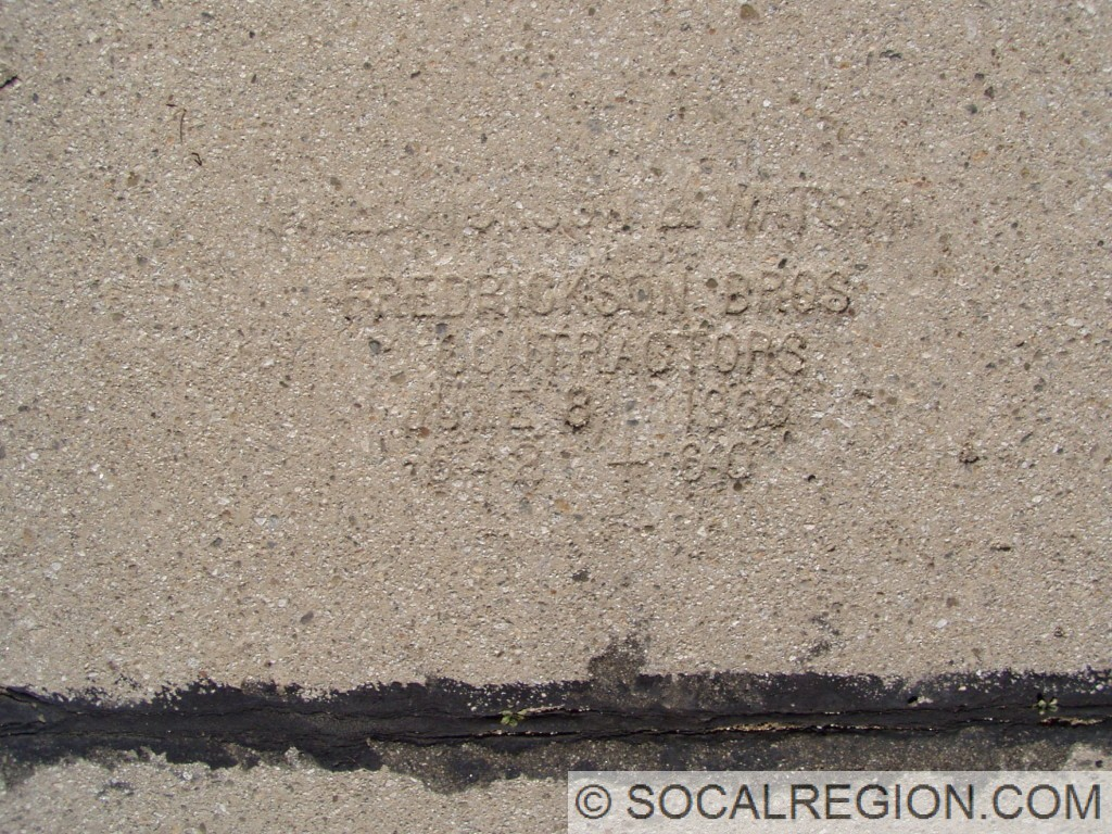 Date stamp from June 8, 1933. Fredrickson and Watson, Contractors.