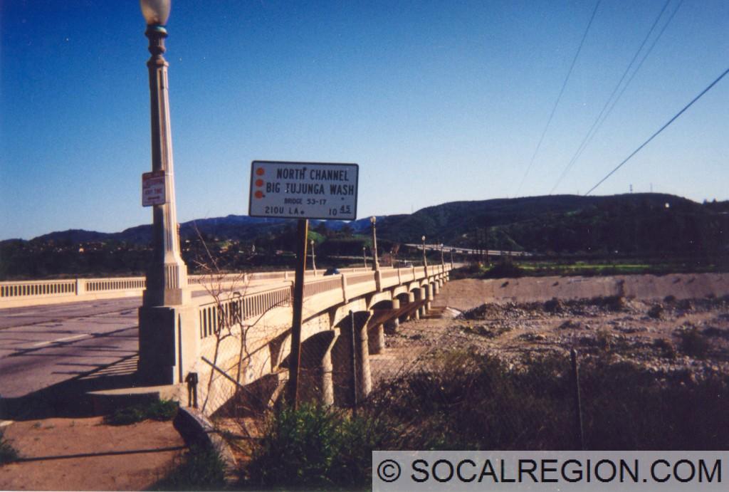 Big Tujunga Wash Bridge. Built in 1925, widened in 1937, replaced in 2010.