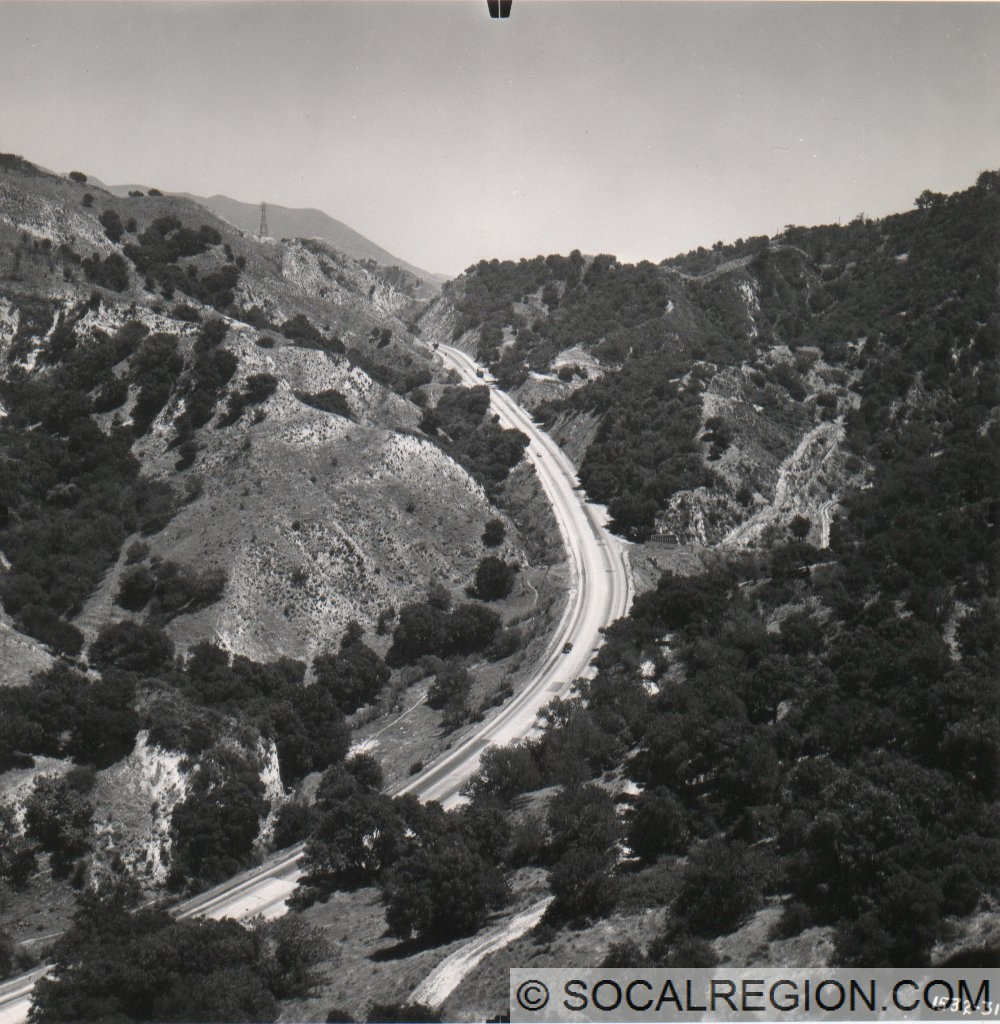 1949 view looking toward Weldon Summit above Gavin Canyon. Courtesy - Caltrans