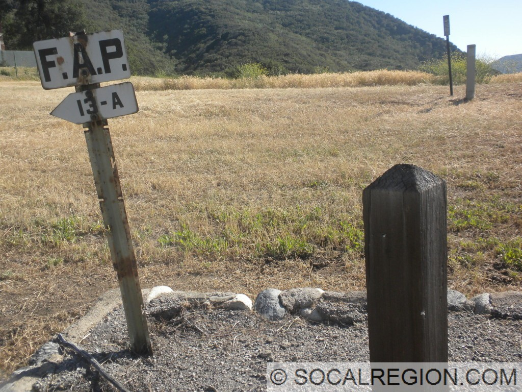 FAP sign and section post just south of the Templin Highway junction.
