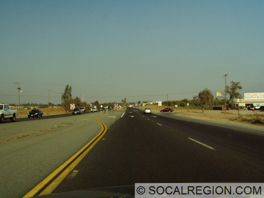 Expressway section of Hwy 60 just west of its end at the 10.
