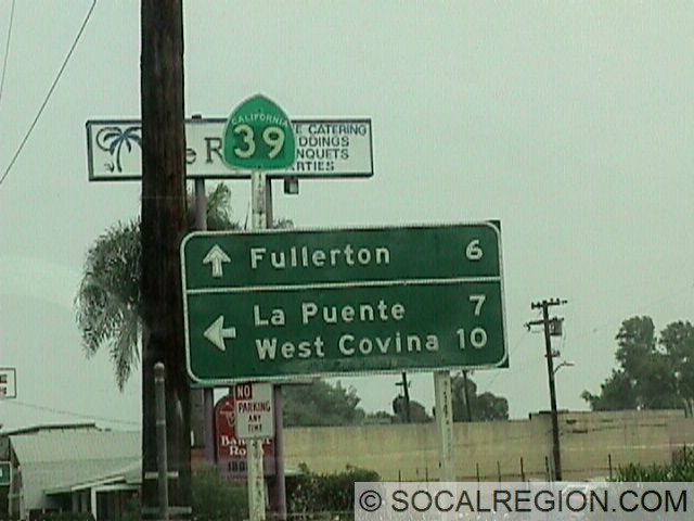 Signage at the Harbor Blvd / Whittier Blvd Junction (SR-72).