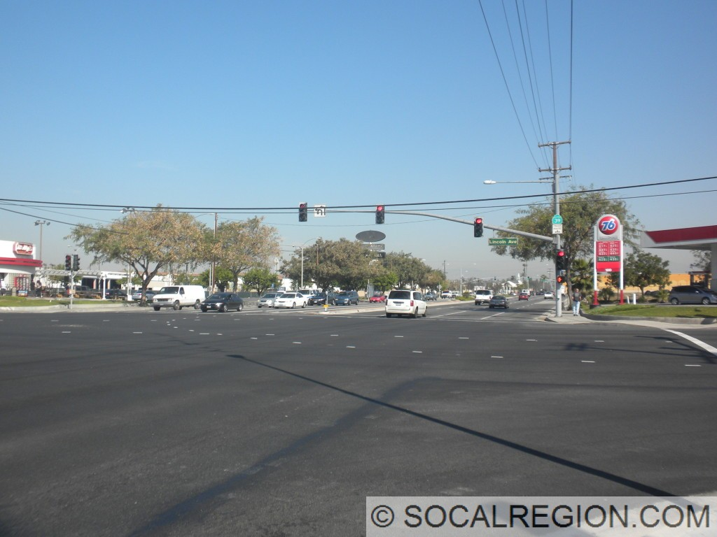 Beach Blvd at Lincoln Ave in the Buena Park area.