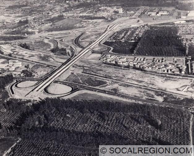 SR-22 at the Orange Crush Interchange (Jct. I-5, SR-22, SR-57). Taken in 1965. Photo Courtesy of Caltrans.