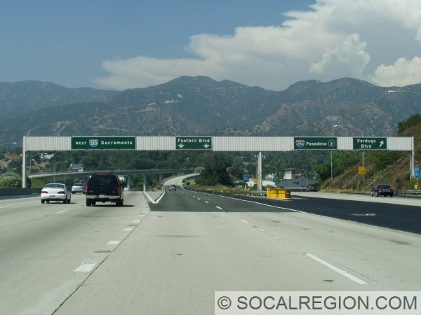 Northern end of the Glendale Freeway.