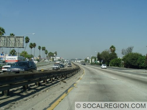 Crossing into Los Angeles County