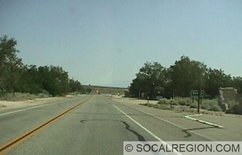 North along US 395 at Cartago