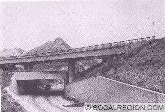 US 99 / US 6 Junction in 1971 - Looking northwest through tunnel.