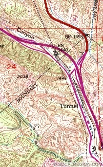 Map of the 1954 freeway interchange.