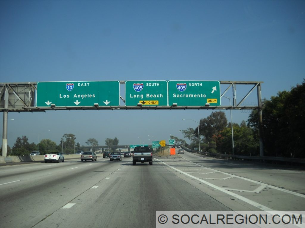 10 east at the 405