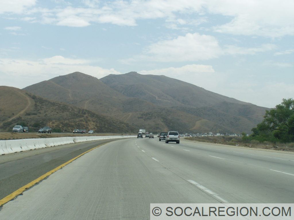 Passing through the Lake Elsinore area