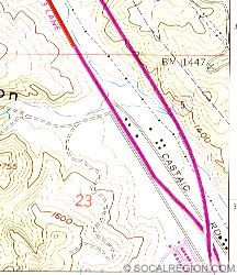 Map of this location. Castaic Road was the pre-1951 alignment of US 99.