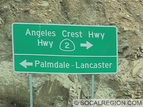 Signage at the Angeles Forest Highway junction.