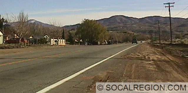 Harold looking south along Sierra Highway.