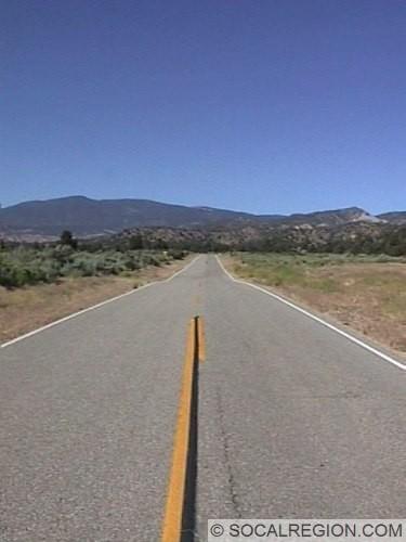 Lockwood Valley Road near Dry Creek.