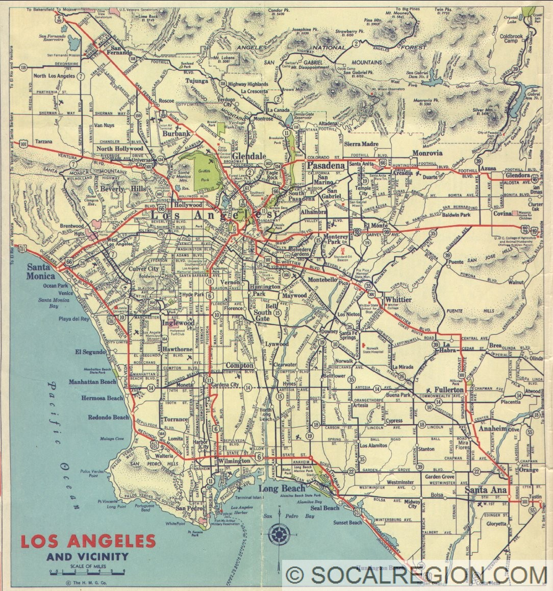 city map of los angeles ca county zip codes