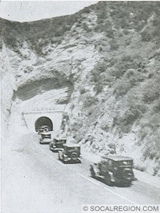 In 1910, a tunnel was bored by Los Angeles County through what is now a cut. This tunnel was known as the Newhall Tunnel.