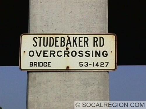 Old bridge sign at Studebaker Road.