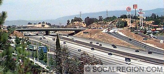 I-5 at Pico Canyon Road / Lyons Avenue looking north.