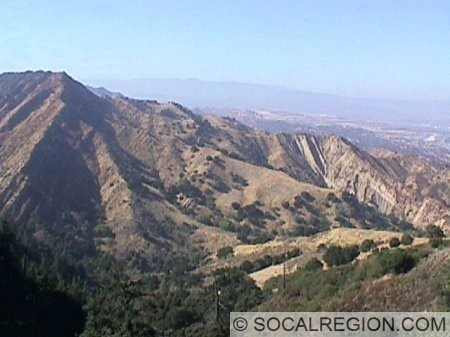 View of the Pico Anticline from the East Canyon trail