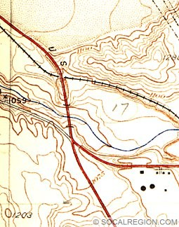 Map of Saugus Junction from 1938.