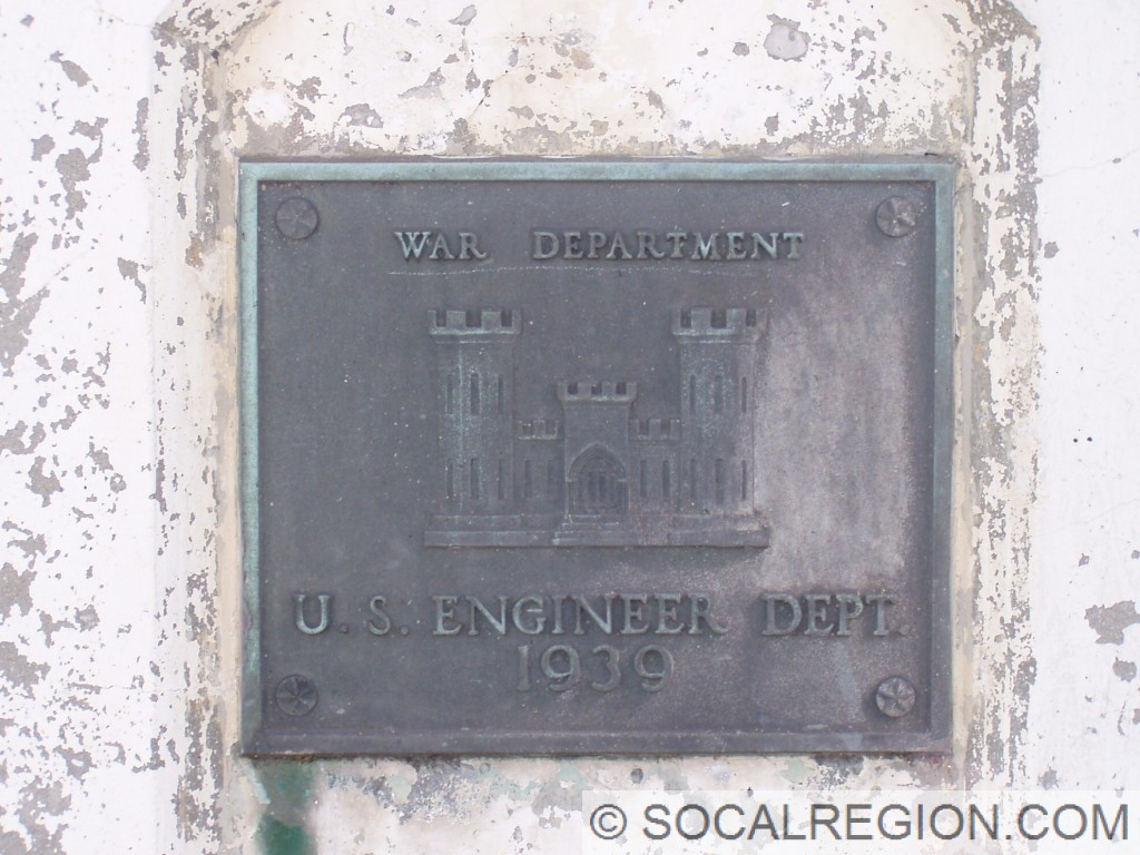 Dedication plaque from the War Department.