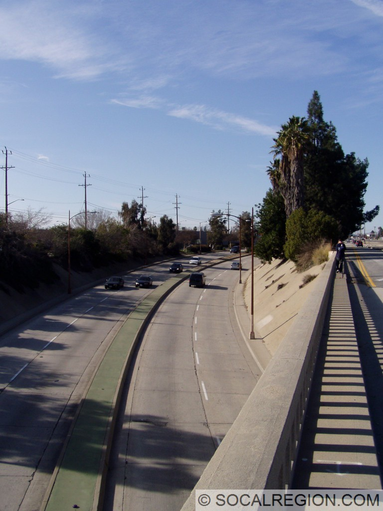 Northbound view from Victory Place.