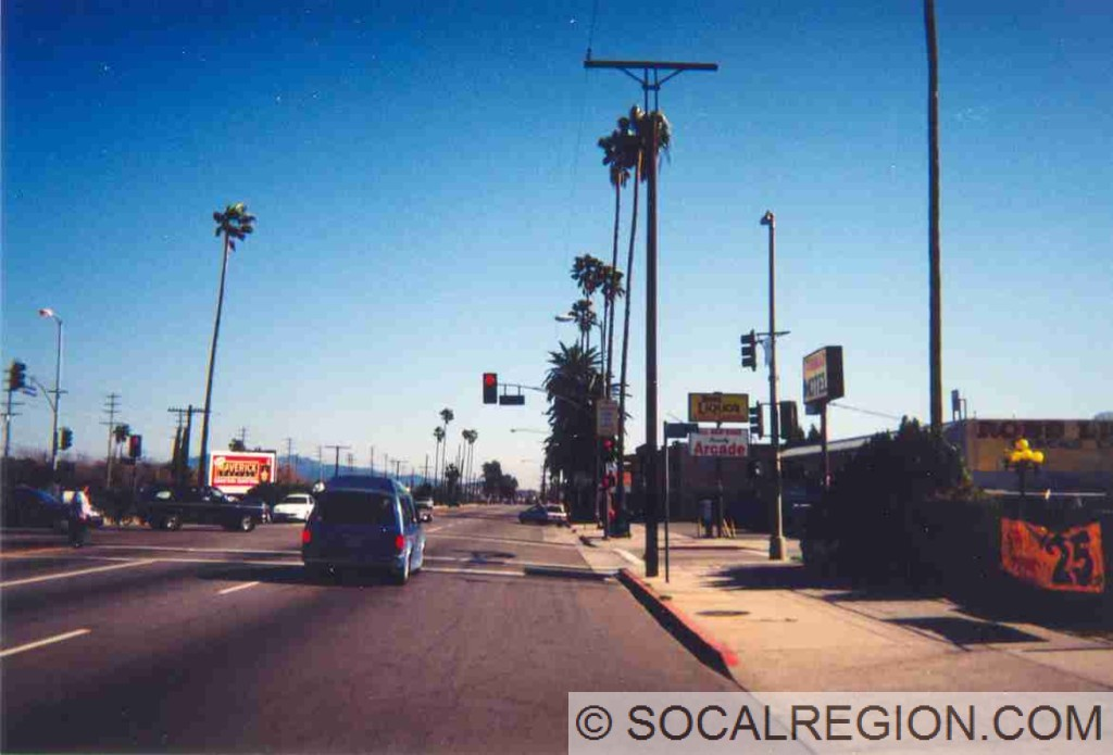 San Fernando Road at Polk Street in Sylmar.