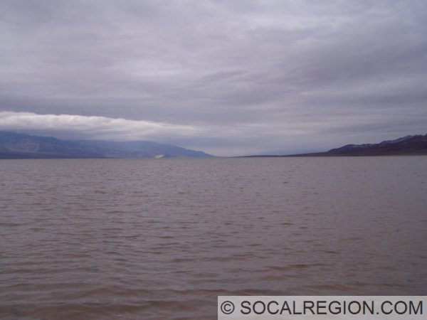 By March 2005, the saucer field was underwater. The hills to the right are a part of the Artists Block.