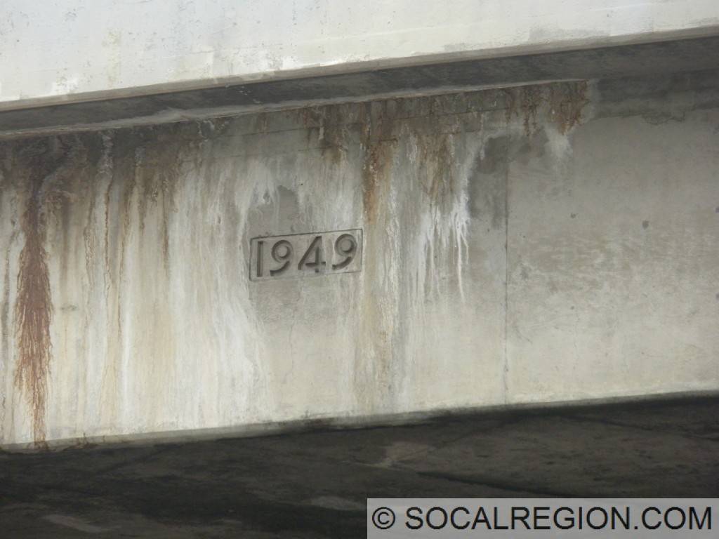 1949 date stamp on the Vermont Ave bridge.