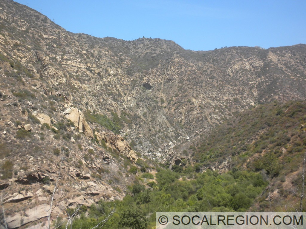The central portion of Malibu Canyon.