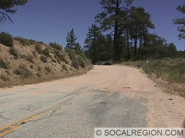 Upper end of the dirt section near Lake Arrowhead.