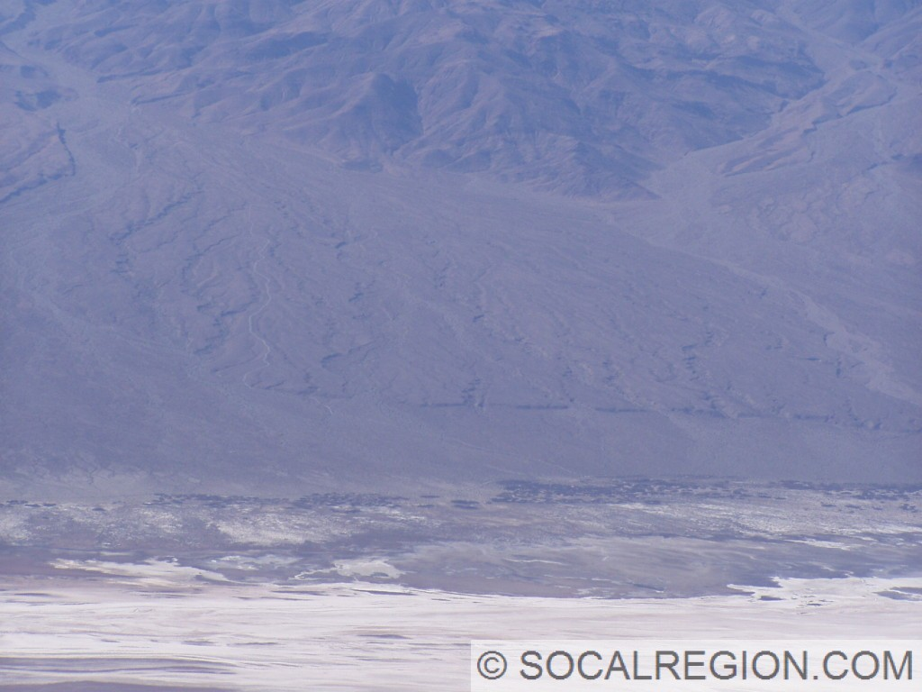 Hanaupah Fault visible on the west side of Death Valley.