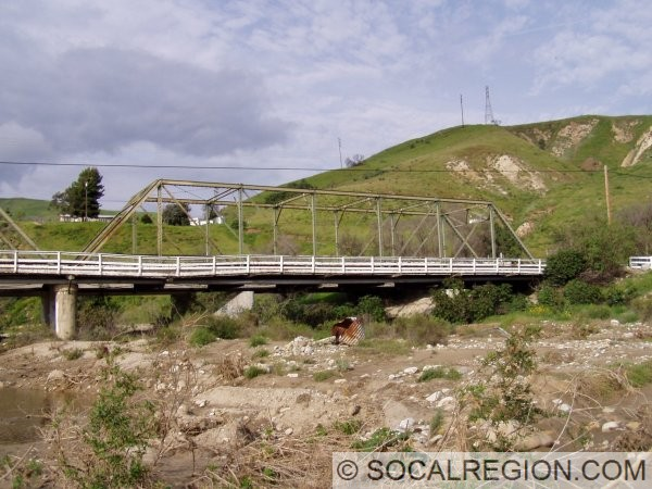 Side view of the Piru Creek Bridge in Piru.